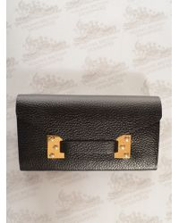 Sophie Hulme Fine Black Leather Envelope Wallet By - Lyst