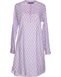 Antik Batik Purple Short Dress - Lyst