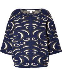 Diane Von Furstenberg Intarsia Knit Pullover - Lyst