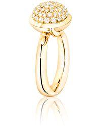 Tamara Comolli - Bouton 18k Yellow Gold Pavé Diamond Dome Ring - Lyst