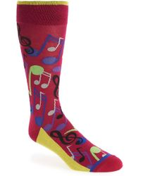 Di Pedarius - 'music Notes' Socks - Lyst