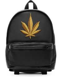 Palm Angels - Black Embroidered Leaf Backpack - Lyst