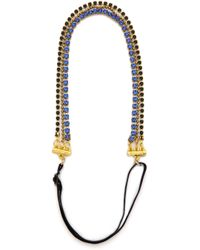 Dauphines of New York - Breaking The Rules Headband - Blue - Lyst