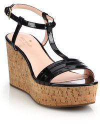 Kate Spade | Tallin Cork Platform Wedge Sandals | Lyst