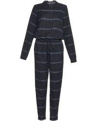 Vanessa Bruno Athé - Striped Cotton Jumpsuit - Lyst
