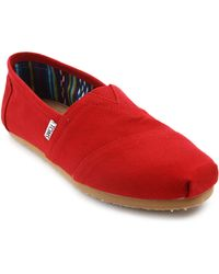 Toms Canvas Red Espadrilles - Lyst