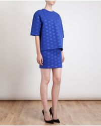 Stella McCartney Neoprene Jersey Dot Skirt - Lyst