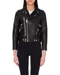 The Kooples Sport Leather Biker Jacket - For Women - Lyst