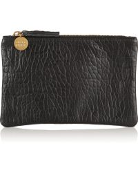 Clare V. - Textured-Leather Pouch - Lyst