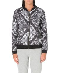 A Question Of Clouds Quilted Bomber Jacket White - Lyst