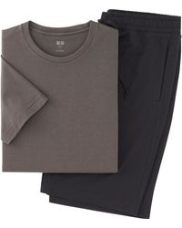 Uniqlo Men Supima Cotton Short Sleeve Lounge Set - Lyst