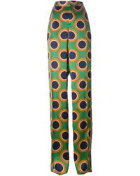DSquared² Circle Print High Waist Trousers - Lyst