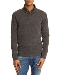 Diesel Ben Grey Vneck Sweater - Lyst