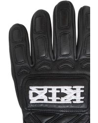 KTZ - Quilted Leather Gloves - Lyst