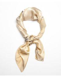 Burberry Gold Silk Nova Check Pattern Scarf - Lyst