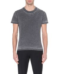 Sandro Faded Cotton-Jersey T-Shirt - For Men - Lyst