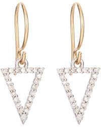 Adina Reyter Pave Diamond Open Triangle Earrings - Lyst