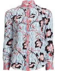 Matthew Williamson Climbing Hibiscus Silk Shirt - Lyst