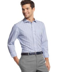 Tommy Hilfiger Bradford Striped Custom-fit Shirt - Lyst