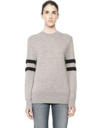 Alexander Wang Rugby Knit Pullover gray - Lyst
