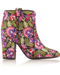 Laurence Dacade - Pete Embroidered Canvas Ankle Boots - Lyst