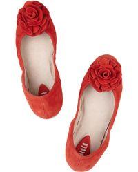 Bloch - Rosette-Embellished Suede Ballet Flats - Lyst