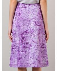 Fernanda Yamamoto - Printed Midi Skirt - Lyst