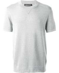 Neil Barrett Short Sleeve Sweater - Lyst