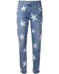 Stella McCartney Skinny Boyfriend Star Print Jeans - Lyst