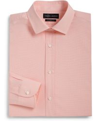 Ralph Lauren Black Label Tailored-Fit Micro Check Dress Shirt - Lyst
