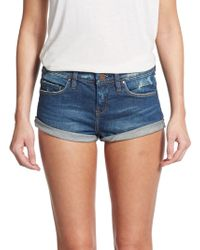 Blank NYC Distressed Cuffed Denim Shorts - Lyst