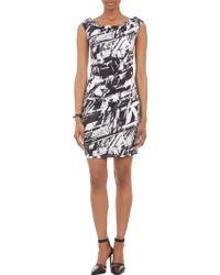 Helmut Lang Meteorprint Strapless Cutout Dress - Lyst