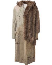 Greg Lauren - Faux Fur Detail Coat - Lyst
