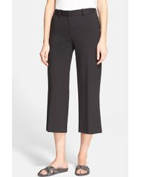 Theory 'Sprinza' Wide Leg Crop Pants - Lyst