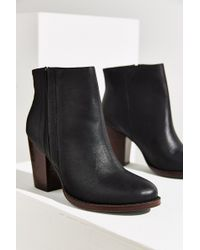 Silence + Noise | Half-stacked Heeled Ankle Boot | Lyst