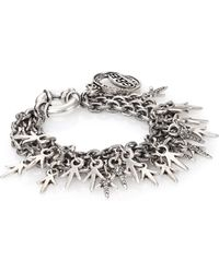 Giles & Brother | Three-chain Crystal Charm Bracelet | Lyst