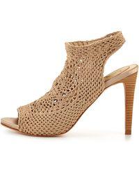 Vince Camuto Signature - Bellini Crochet Sandal Pale Nude - Lyst