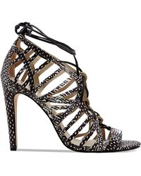 DV by Dolce Vita Open Toe Caged Ghillie Lace Up Sandals - Tessah High Heel - Lyst