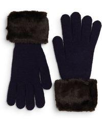 Ivanka Trump - Faux Fur-trimmed Gloves - Lyst
