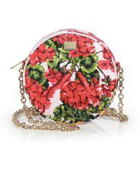 Dolce & Gabbana Mixed-Floral Brocade Fan Crossbody Bag - Lyst