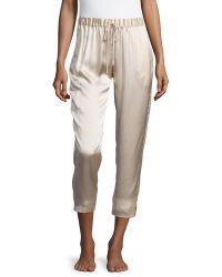 Josie Natori - Drawstring Silk Lounge Pants - Lyst