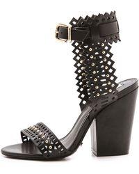 Schutz Carolins Sandals - Black - Lyst