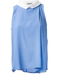 Cacharel Pleated Sleeveless Blouse - Lyst