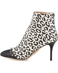 Charlotte Olympia Myrtle Leopard-print Bootie - Lyst