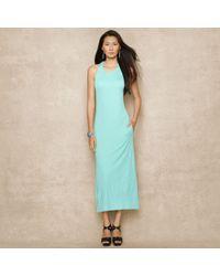 Blue Label Sleeveless Jersey Maxidress - Lyst