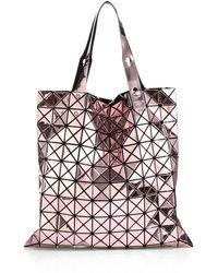 Bao Bao Issey Miyake Prism Metallic Faux-Leather Tote - Lyst