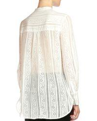 Erdem - Tabitha Lace Button-bib Top - Lyst