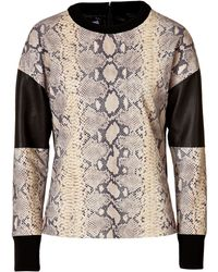 Emanuel Ungaro Python Printed Leather Top - Lyst