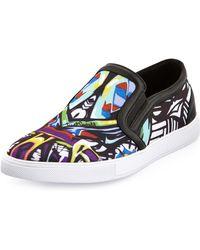 Just Cavalli - Miami Printed Slipon Skate Shoe Multi - Lyst