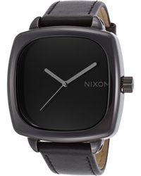 Nixon Women'S Ceramic Shutter Black Genuine Leather And Dial black - Lyst